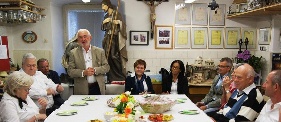 Sitzung anlässlich 10 Jahre Krippenbauschule Feldkirchen- Ehrung verdienter Mitglieder