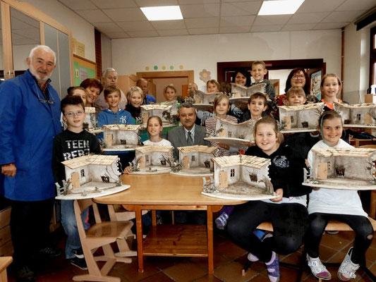 Schulkrippenbau 2014 in der VS  St. Ulrich