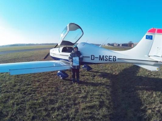 Unser bisher jüngster Fluggast - Air Smaragd