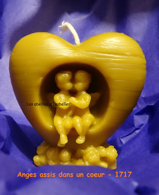 Couple Ange dans coeur - Réf. 1717 - (dim.6,5x3x6,5 cm - 70 g)