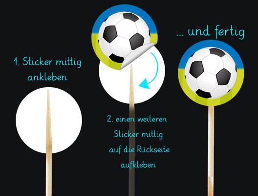 Anleitung Kuchendeko-Sticker