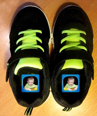 Schuhaufkleber mit Foto personalisierbar