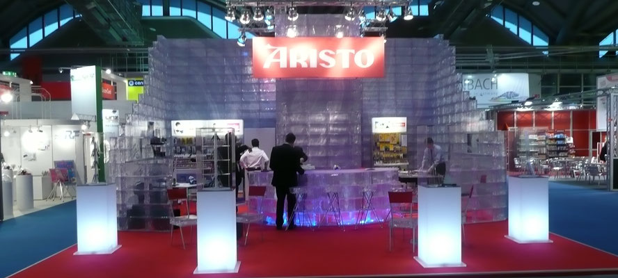 Messestand aus GEO Brick by GEOtec