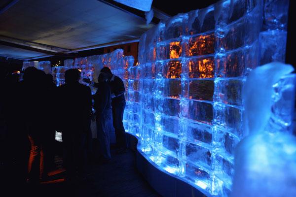 Eiswand aus GEO Brick (Iceteam Thomas Tremml)