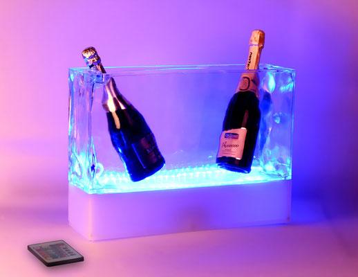 Sektflaschenkühler beleuchtet mit RGB by GEOtec