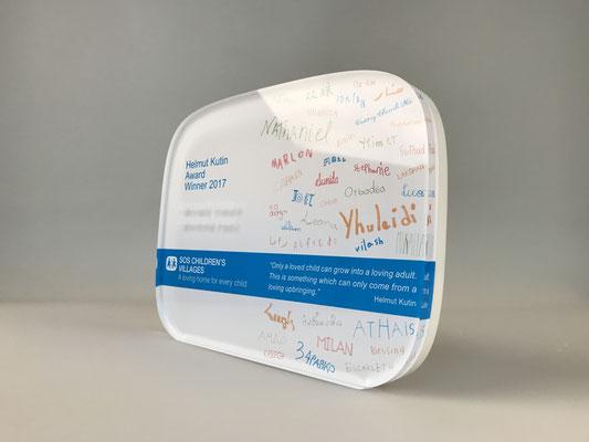 Acryltrophäe mit Digitaldruck (UV-Direktdruck)