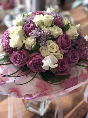 Brautstrauss in Pink, romantisch