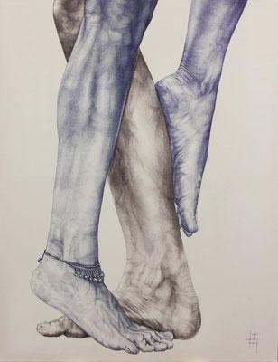 Stylo à bille, 70 x 90 cm