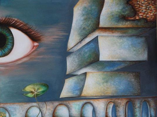 Peinture à l'eau, 50cm x 65 cm