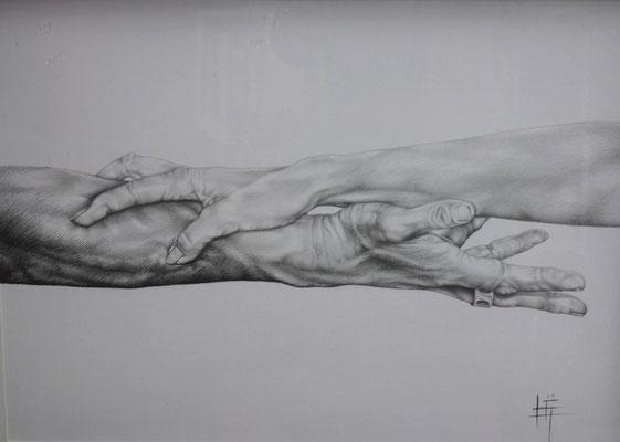 Crayon et Stylo, 50 x 65cm, VENDU