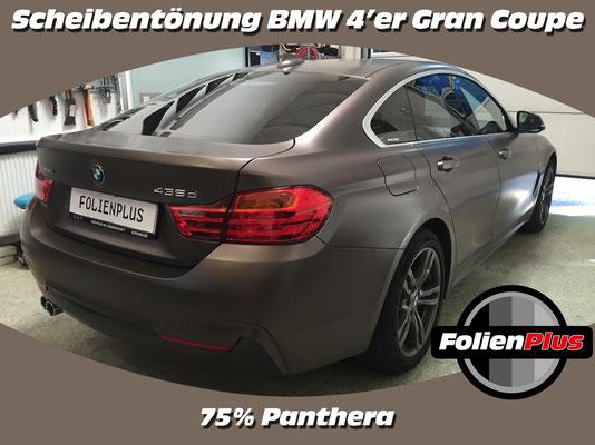 BMW 4'er GranCoupe nach der Scheibentönung