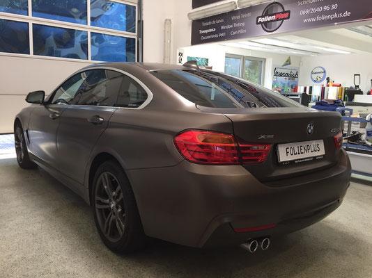 Tönungsfolie am 4er BMW GranCoupe mit 15 Jahren Garantie