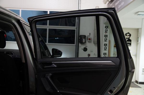 VW Tiguan II - Die Sicht nach aussen mit 75% Tönungsgrad