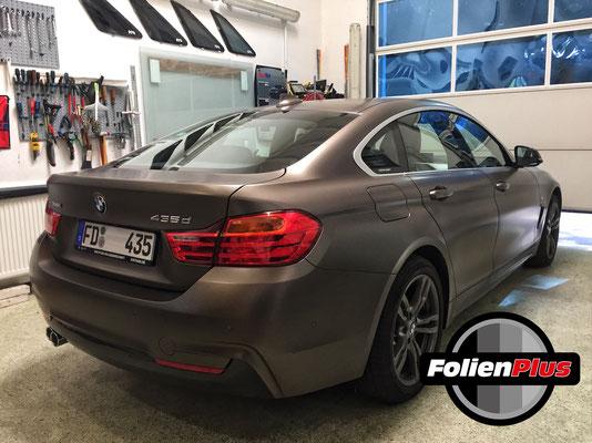BMW 4'er GranCoupe vor der Scheibentönung