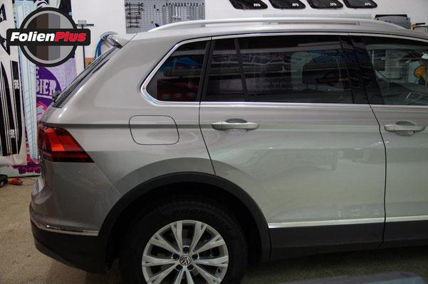 VW Tiguan II - Seitliche Ansicht nach dem Scheiben tönen