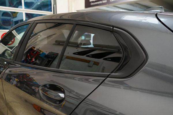 Nahansicht Dreiecksfenster BMW 2021