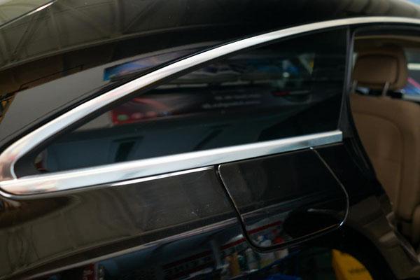 Scheibenfolierung Mercedes Kofferraum Seitenscheibe