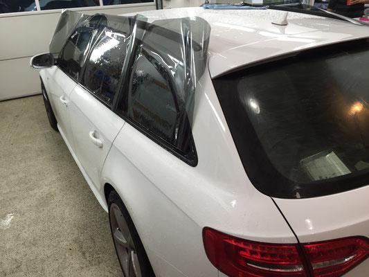 Scheibentönung nachher Audi A4 Avant 75% Panthera