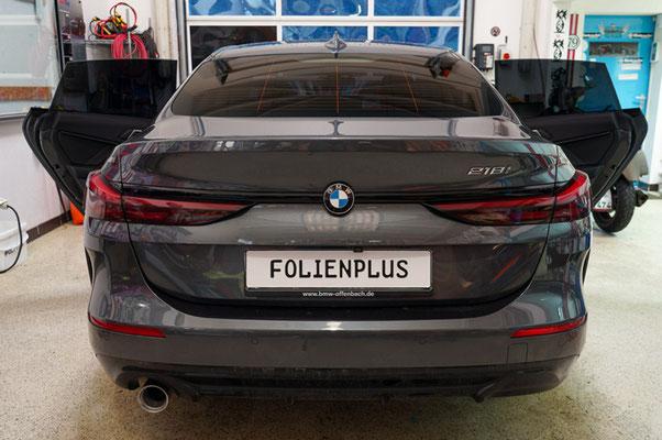 Scheiben tönen BMW F44 Heckansicht - Rödermark