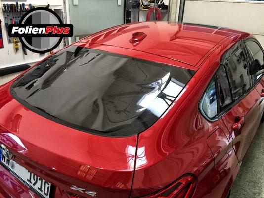 BMW F26 High Premium Montage Scheibentönungsfolie