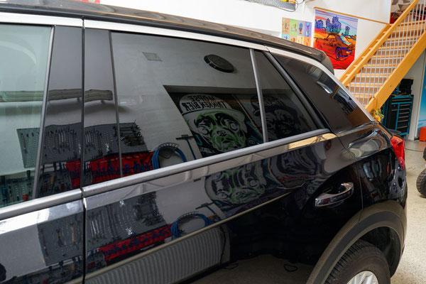 Scheibentoenung Seitenansicht VW T-Roc
