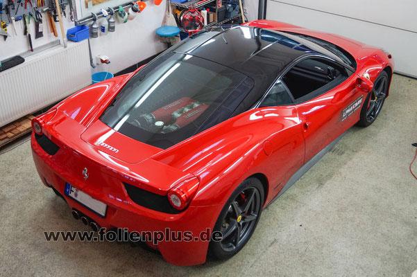 Teilfolierung Ferrari 458 - Schwarz glänzend