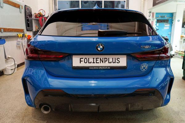 Heckansicht BMW F40 Scheibentönung FolienPlus