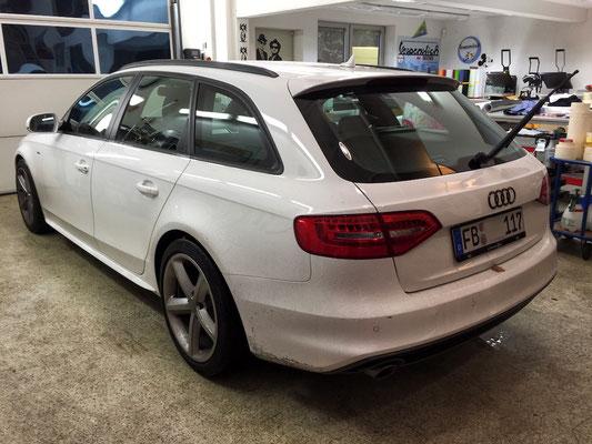 Audi A4 Avant vor dem Scheibentönen