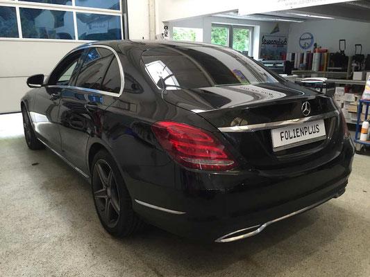 Nachher Scheibentönung Mercedes C-Klasse W205 mit 95% Suntek