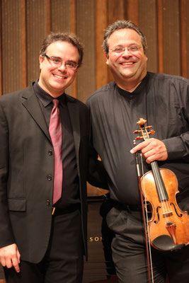 Avec le violoniste Yehonatan Berick