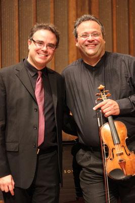 With violinist Yehonatan Berick (2014)