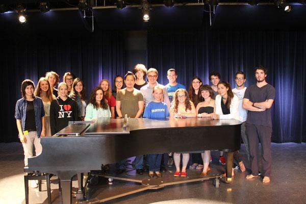 Avec des étudiants du Camp musical du Saguenay-Lac-Saint-Jean (2014)