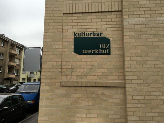 Fassadenbeschriftung Werkhof102