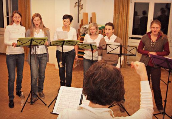 2011 Prove nella vecchia sala Raiffeisen a Rencio