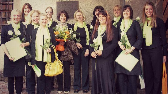 2009 Firmung in Rentsch mit unserer neuen Chorleiterin Cornelia