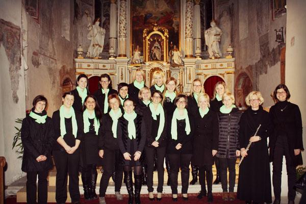 2014 Abendstimmung in Untermais mit Heidi Nock und Renate Alber