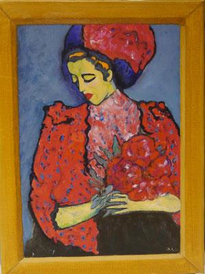 Dame met hoed , Jannie Lubbers