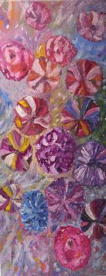 Abstracte bloemenpracht , Maria Treuren