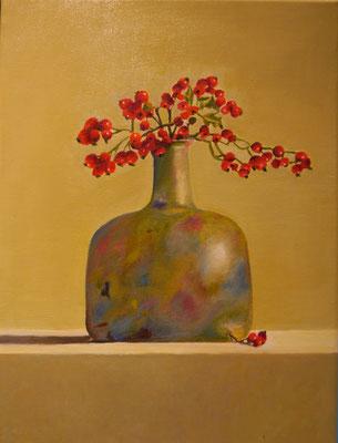 Rode bessen vaas, Gerda du Pau