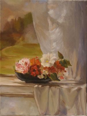 Bloemen in zonlicht , Trix Reith