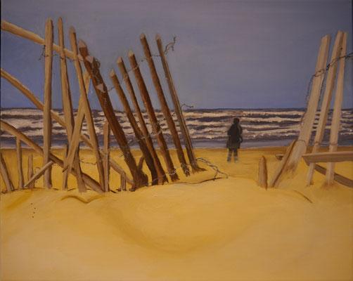 Winderig strand , Carla van Haastrecht