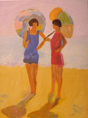 Vroeger..op het strand , Marion van Eijpen