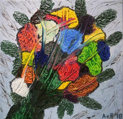 Expressionistisch boeket, Agnes van Berkel