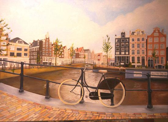 Amsterdam met fiets , Ilonka Hoogendoorn