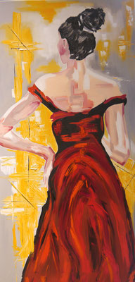 Lady in red, Henriette Onderwater