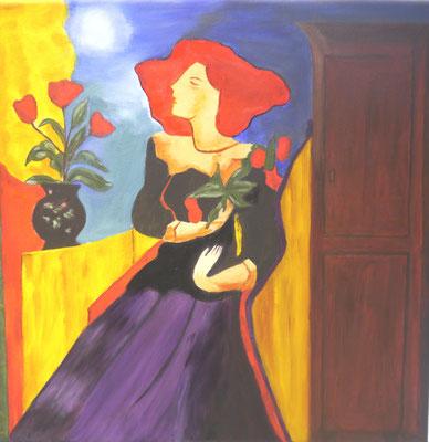 Dame met rood haar, Thea de Bruyn