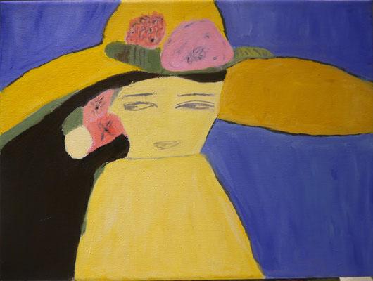 Vrouw met hoed , Marion van Eypen