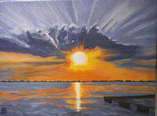 Zonsondergang, Yvon Bruurmij