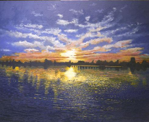 Zonsondergang, Aat van Beek