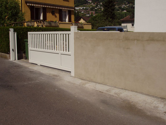Création d'un mur pour retour de portail coulissant